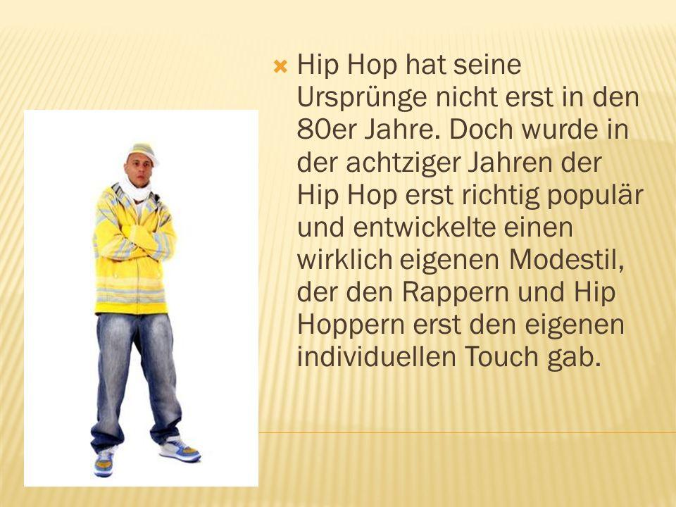  Hip Hop hat seine Ursprünge nicht erst in den 80er Jahre.