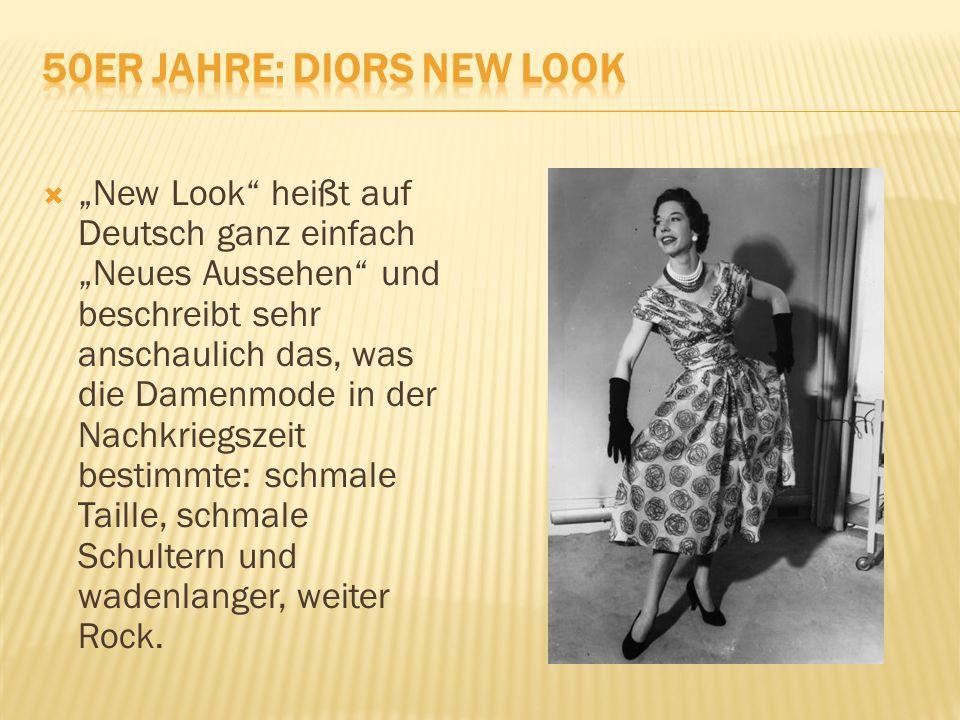 """""""""""New Look heißt auf Deutsch ganz einfach """"Neues Aussehen und beschreibt sehr anschaulich das, was die Damenmode in der Nachkriegszeit bestimmte: schmale Taille, schmale Schultern und wadenlanger, weiter Rock."""