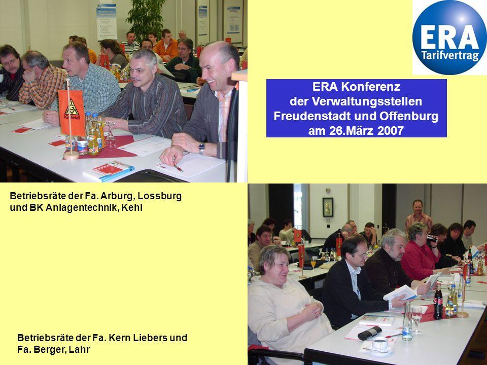 1 Betriebsräte der Fa.Arburg, Lossburg und BK Anlagentechnik, Kehl Betriebsräte der Fa.