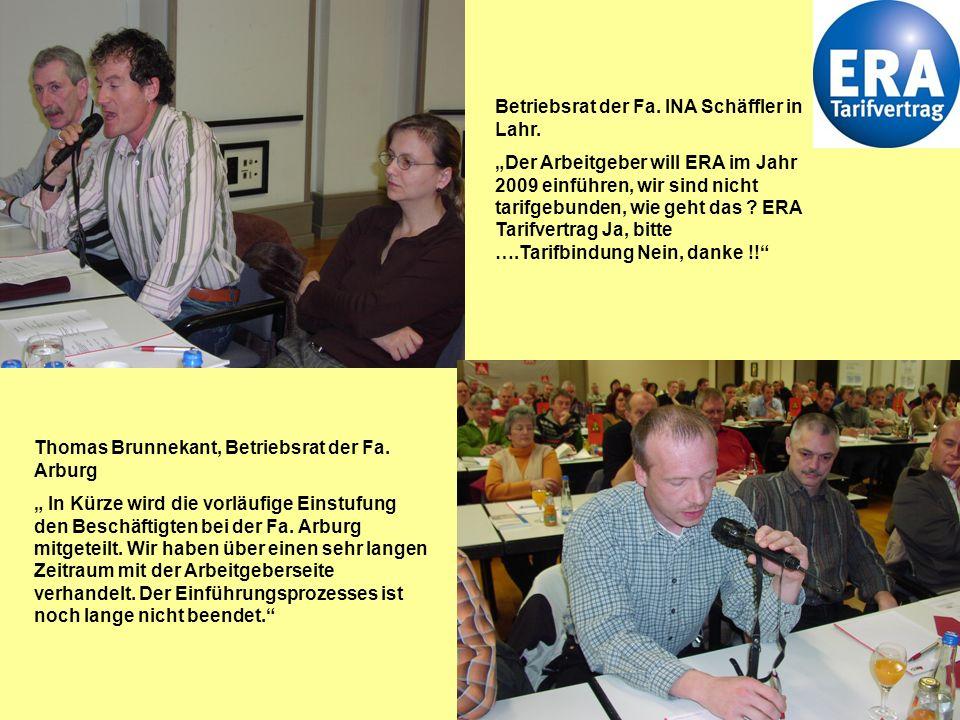 6 …..die Diskussionen gehen weiter !. Ulrich Rohde, Betriebsrat bei der Fa.