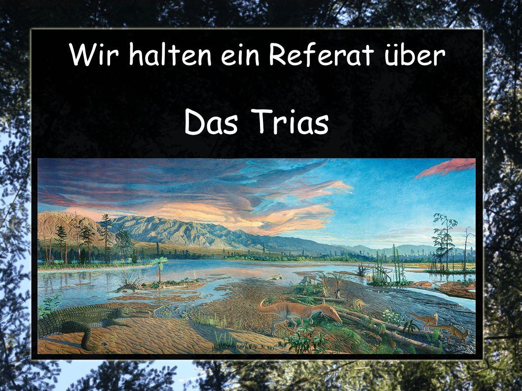 Das Trias Trias = Dreiheit von dem deutschen Geologen V.
