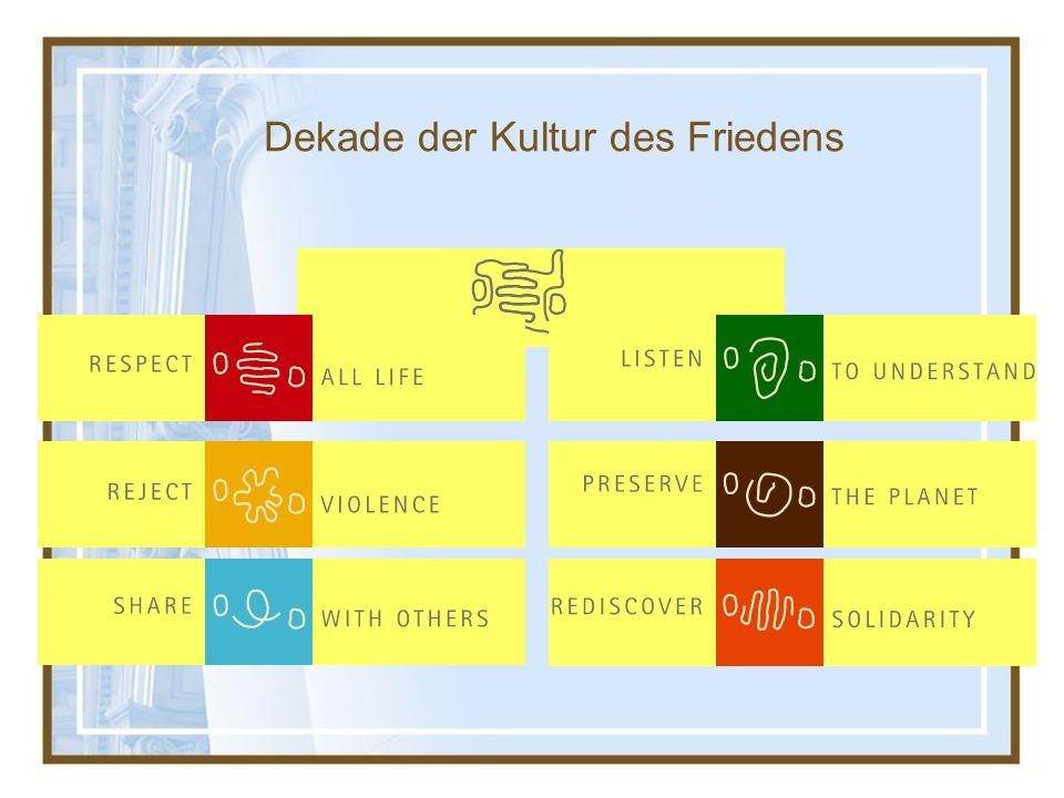 Dekade der Kultur des Friedens
