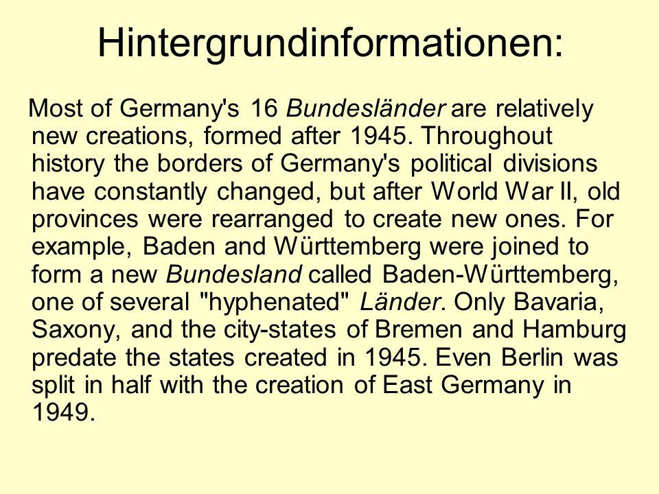 Quiz: Deutsche Städte und Bundesländer 1.Prüft eure Kenntnisse der Erdkunde Deutschlands in diesem Quiz.