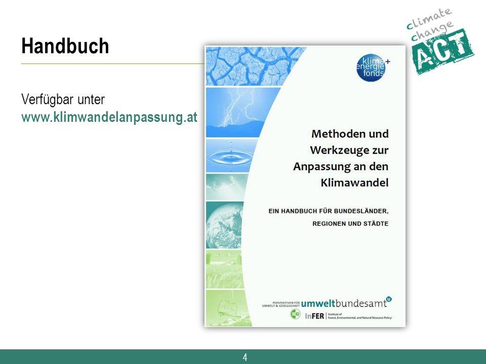 4 Handbuch Verfügbar unter www.klimwandelanpassung.at
