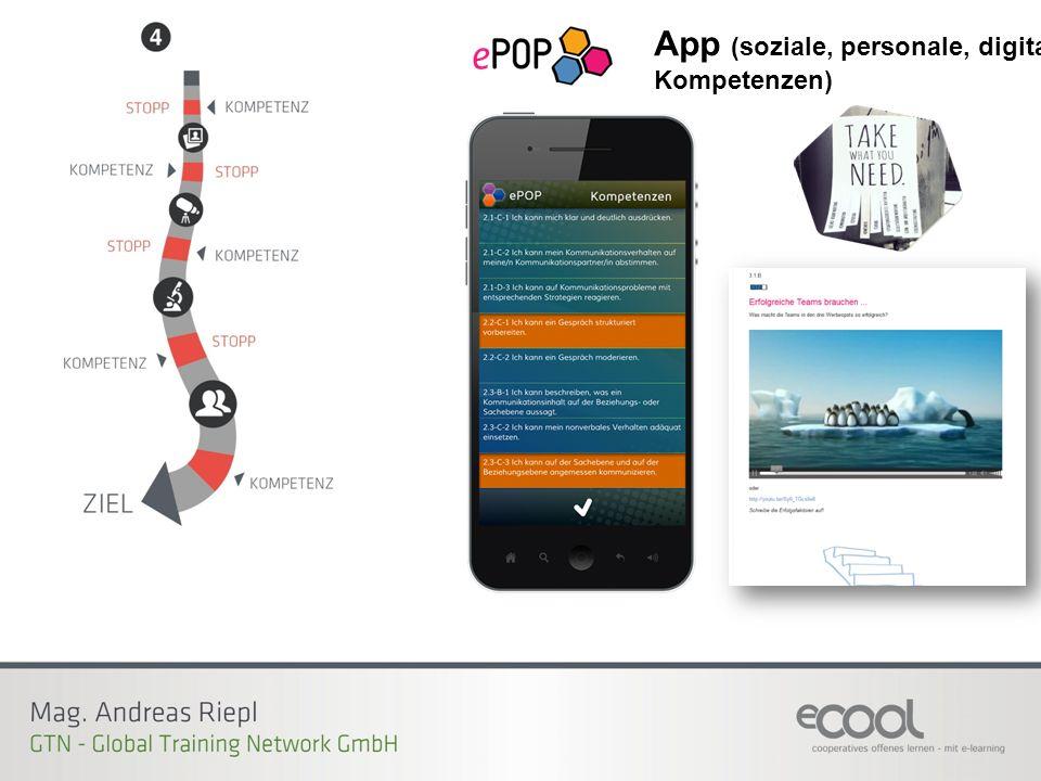 App (soziale, personale, digitale Kompetenzen)