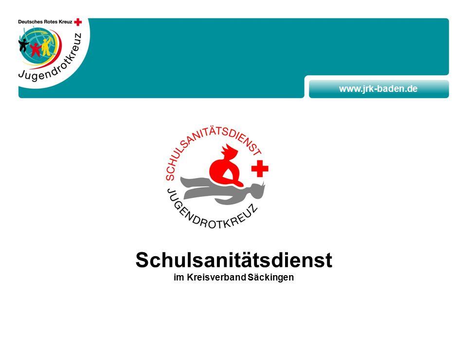 www.jrk-baden.de Schulsanitätsdienst im Kreisverband Säckingen