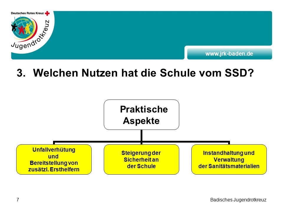 www.jrk-baden.de Badisches Jugendrotkreuz7 3.Welchen Nutzen hat die Schule vom SSD.