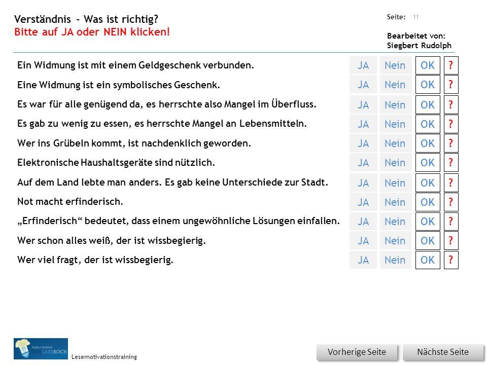 Übungsart: Seite: Bearbeitet von: Siegbert Rudolph Lesemotivationstraining 10 Welcher Artikel.