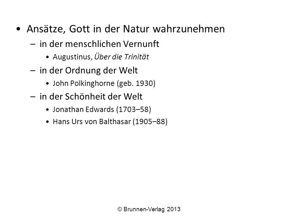 Einwände gegen die Natürliche Theologie –Der theologische Einwand: Karl Barth Versuch, Notwendigkeit u.