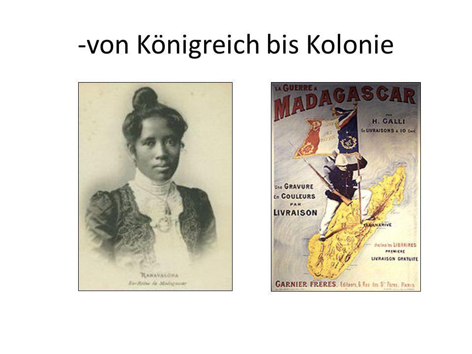 -von Königreich bis Kolonie