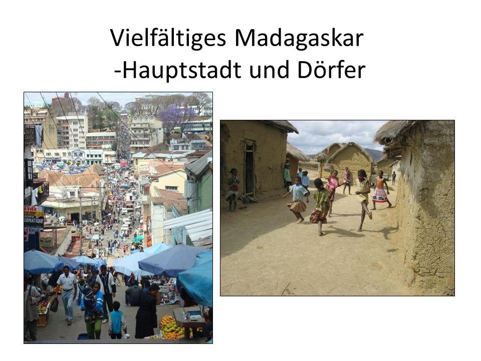 Vielfältiges Madagaskar -Hauptstadt und Dörfer