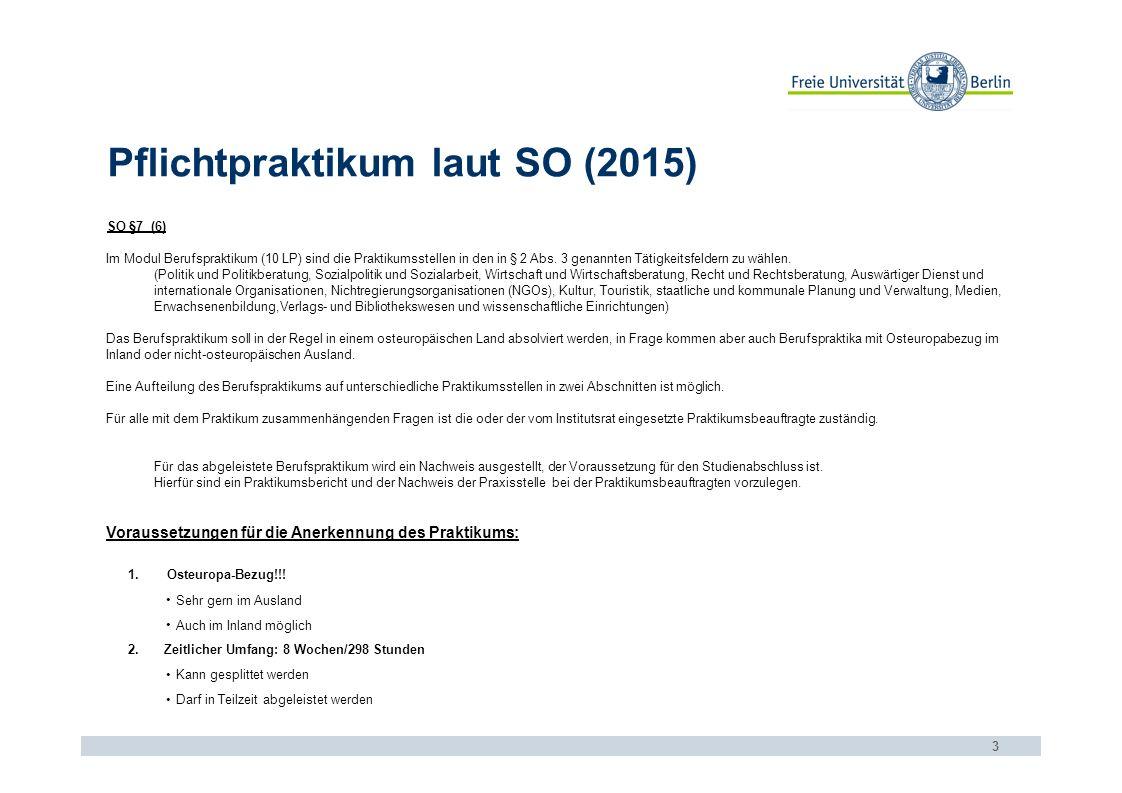 Praktikumssuche 4 www.oei.fu-berlin.de/praktikumsboerse 1.Aktuelle Angebote 2.Archiv (für Initiativbewerbungen) 3.Andere Praktikumsbörsen (s.