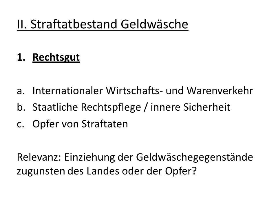 IV.Relevanz der Geldwäsche 2.