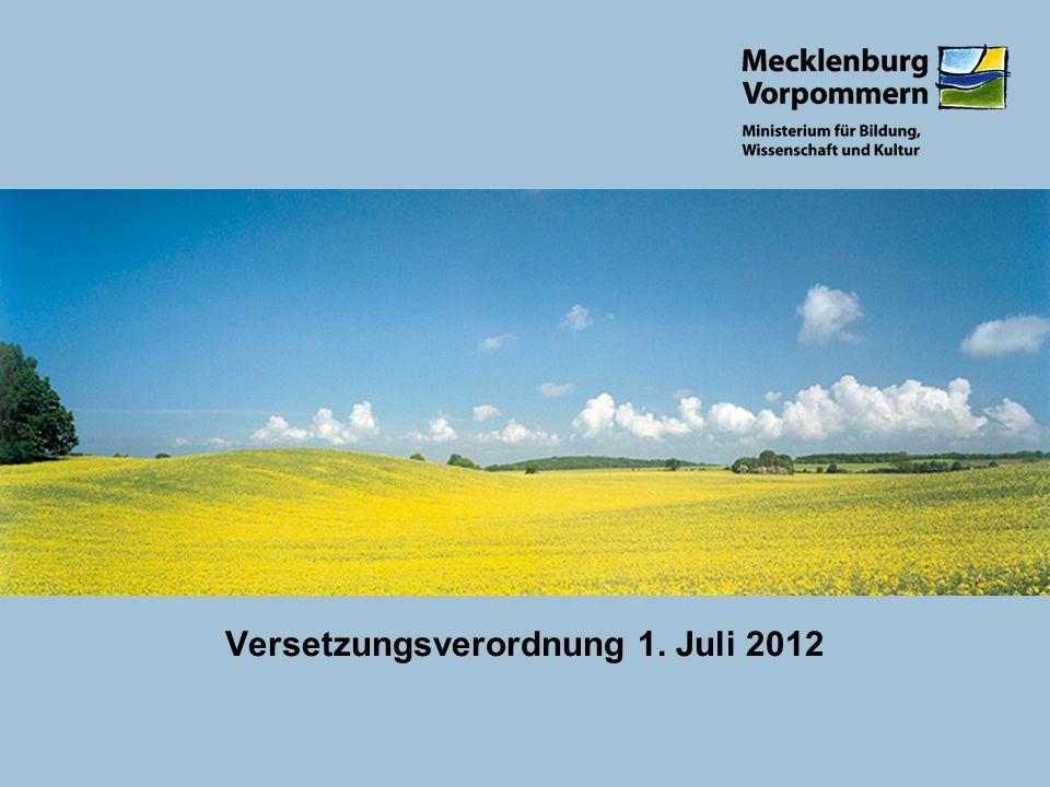 Versetzungsverordnung 1. Juli 2012