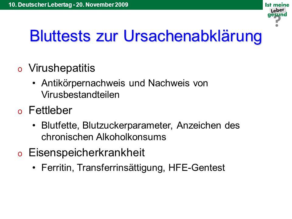 9. Deutscher Lebertag - 20. November 2008 10. Deutscher Lebertag - 20.
