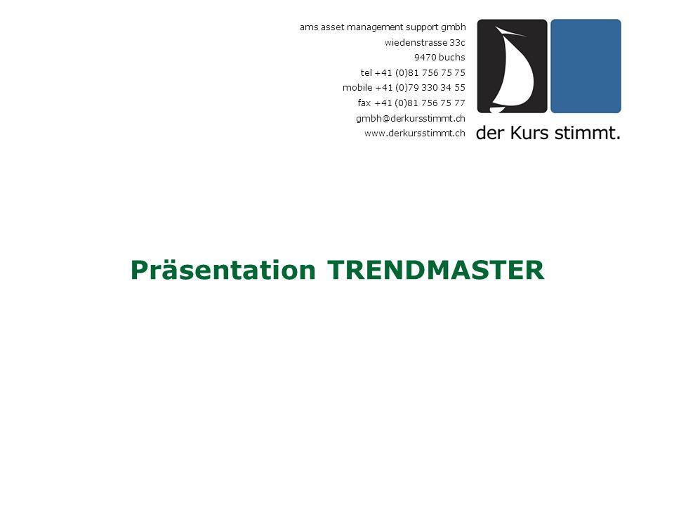 Präsentation TRENDMASTER ams asset management support gmbh wiedenstrasse 33c 9470 buchs tel +41 (0)81 756 75 75 mobile +41 (0)79 330 34 55 fax +41 (0)
