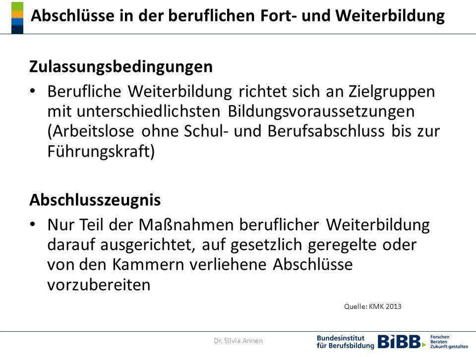 Struktur der DQR-Niveaus Quelle: DQR Handbuch / Grundlage DQR-Dokument 2011 Dr. Silvia Annen