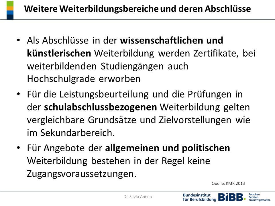 Definitionen der Subkategorien des DQR Dr. Silvia Annen Quelle: DQR Handbuch 2014