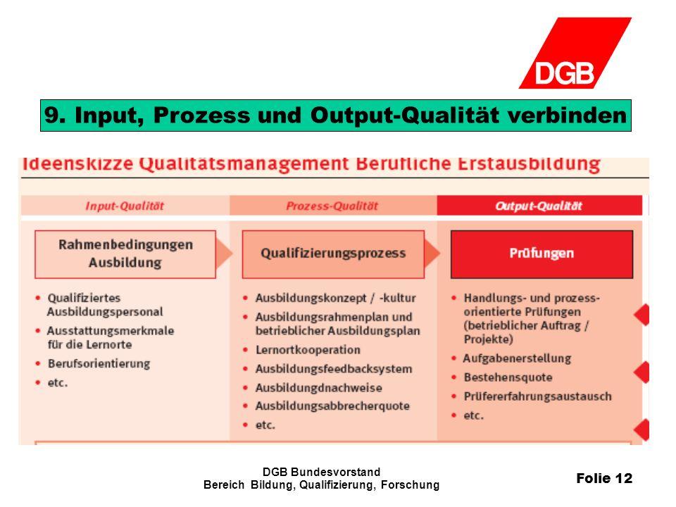 Folie 12 DGB Bundesvorstand Bereich Bildung, Qualifizierung, Forschung 9.