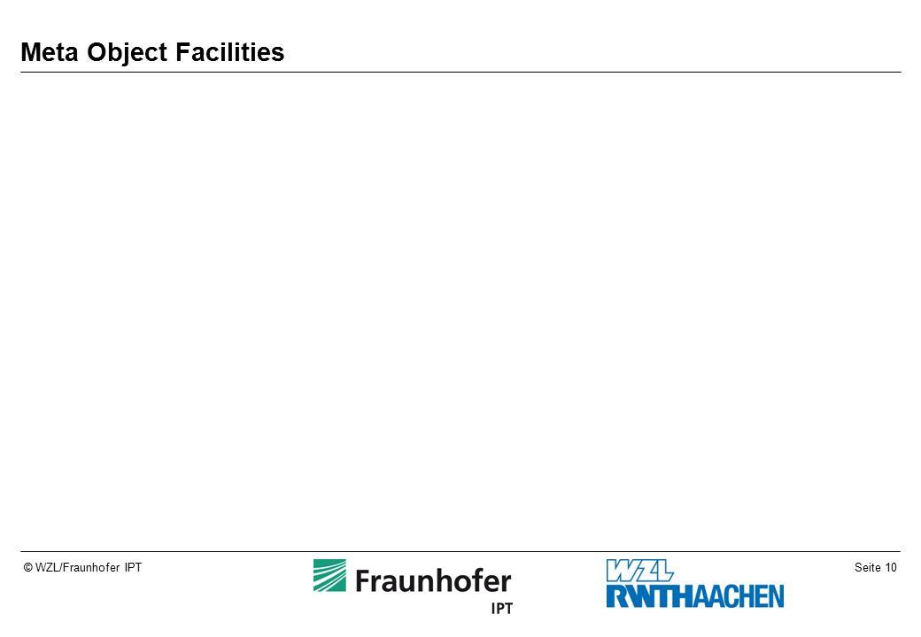 Seite 10© WZL/Fraunhofer IPT Meta Object Facilities
