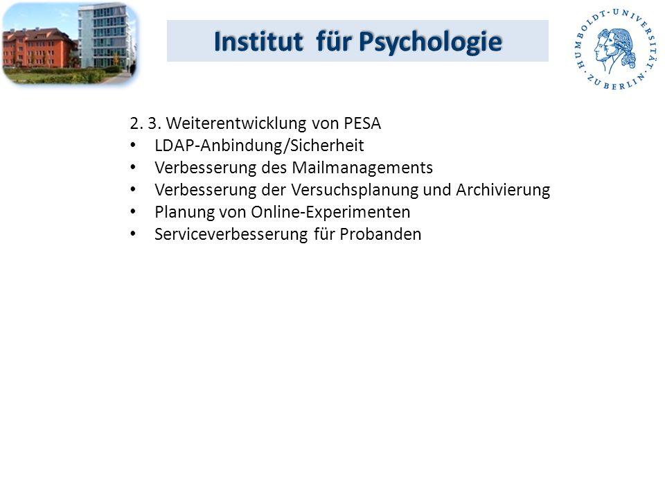 Institut für Psychologie 2. 3.