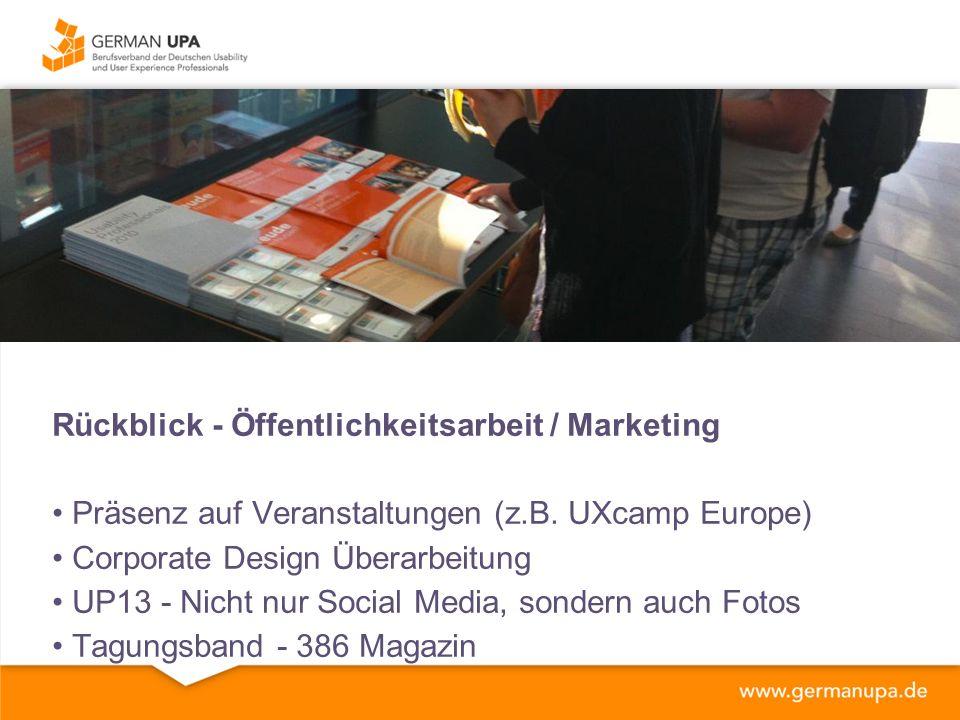Rückblick - Öffentlichkeitsarbeit / Marketing Präsenz auf Veranstaltungen (z.B.