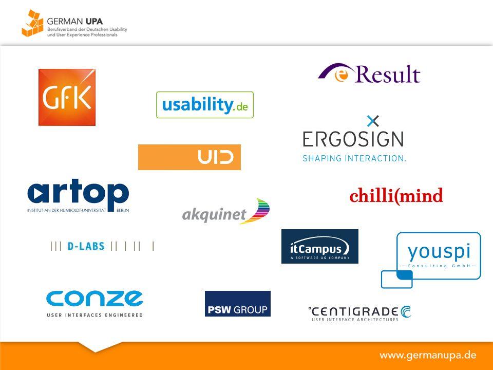 German UPA anerkannter Berufsverband 2002 als eingetragener Verein gegründet Plattform für Experten aus Bereichen Ingenieurwesen, Psychologie, Design und verwandten Gebieten