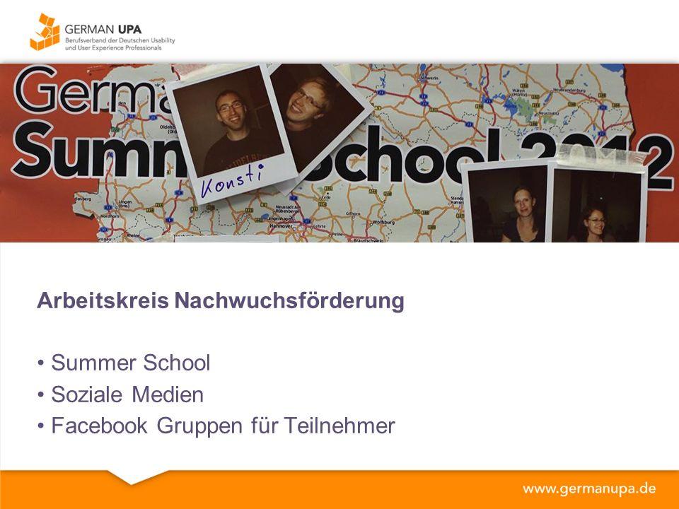 Arbeitskreis Nachwuchsförderung Summer School Soziale Medien Facebook Gruppen für Teilnehmer