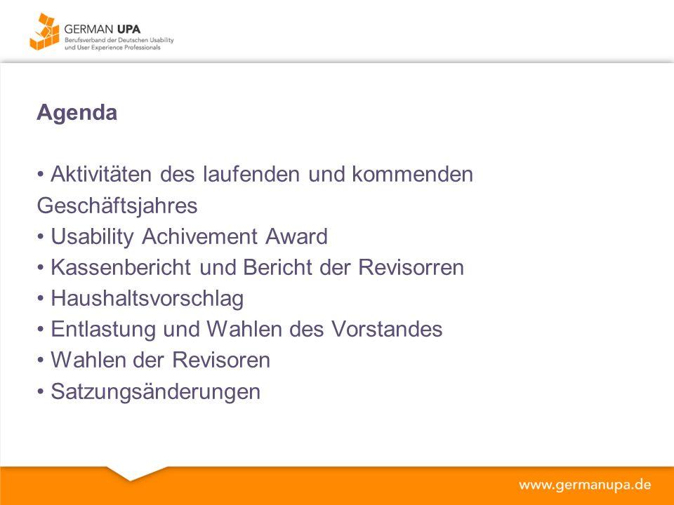 2013: Arbeitskreis Barrierefreiheit Unsere Aktivitäten – Wir informieren Checkliste für Usability Professionals 'Barrierefreiheit von Websites bewerten' (2.