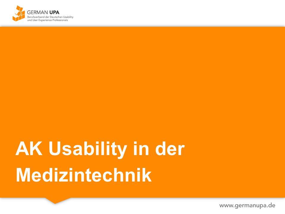 AK Usability in der Medizintechnik