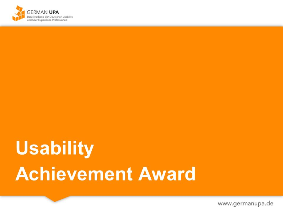 Usability Achievement Award