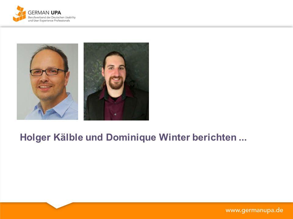 Holger Kälble und Dominique Winter berichten...