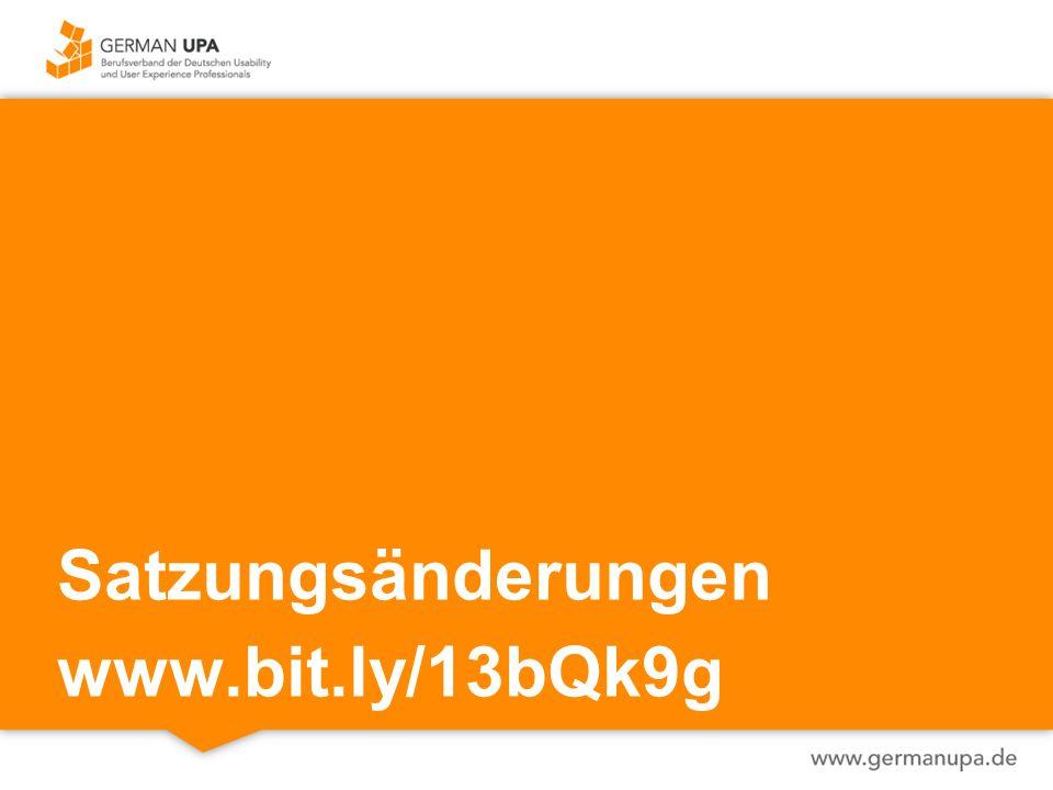 Satzungsänderungen www.bit.ly/13bQk9g