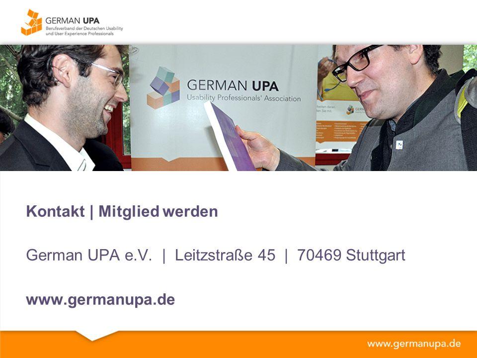 Kontakt | Mitglied werden German UPA e.V. | Leitzstraße 45 | 70469 Stuttgart www.germanupa.de
