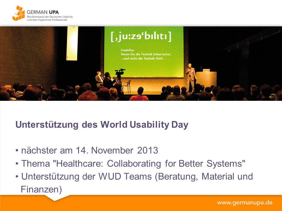 Exklusive Veranstaltungen für Mitglieder UP Veranstaltungsreihe Februar - München April - Ruhrgebiet Mai/Juni - Berlin Juli - Summerschool UP14 Konferenz ggf.