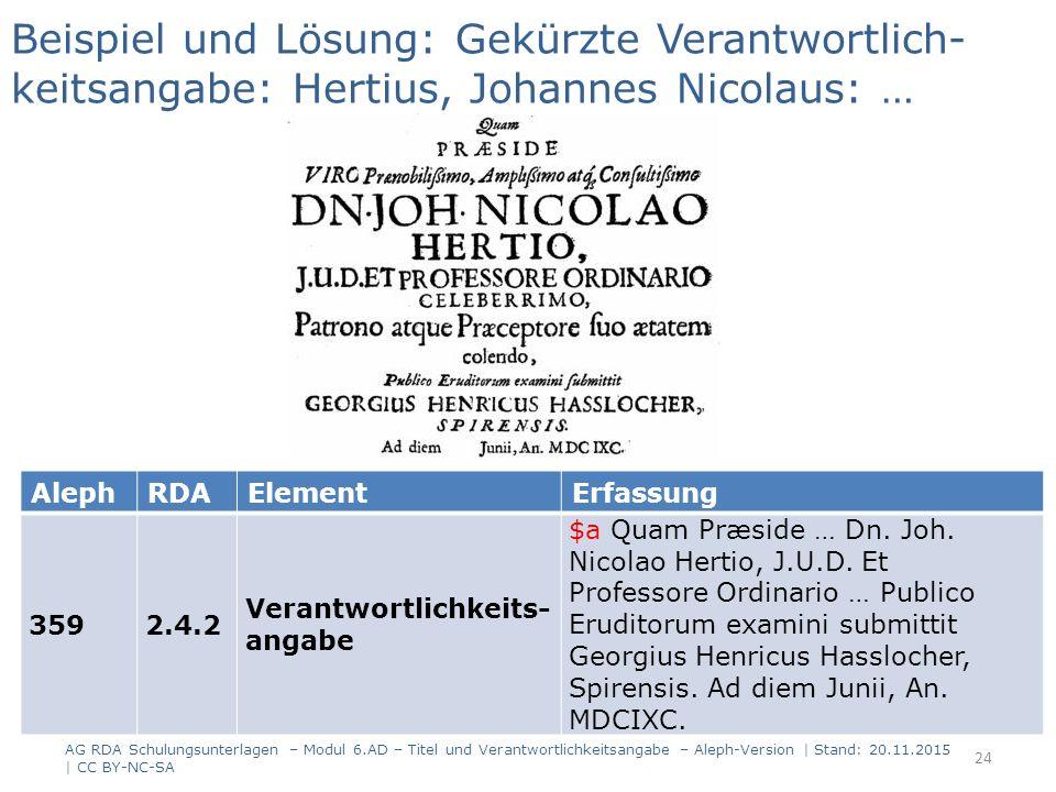 AlephRDAElementErfassung 3592.4.2 Verantwortlichkeits- angabe $a Quam Præside … Dn. Joh. Nicolao Hertio, J.U.D. Et Professore Ordinario … Publico Erud