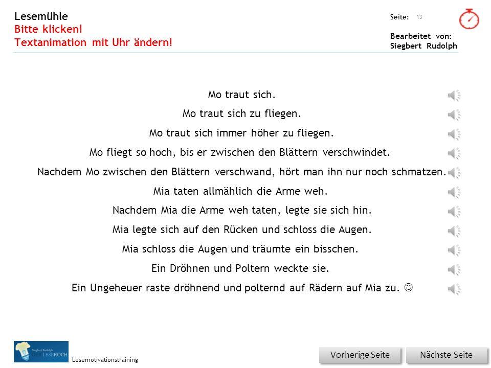 Übungsart: Seite: Bearbeitet von: Siegbert Rudolph Lesemotivationstraining Wörterschüttelautomat (Fantasiewörter) Bitte klicken! 12 verschwindenversch