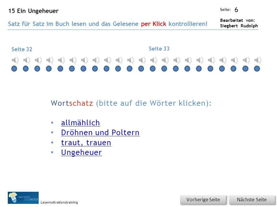 Übungsart: Seite: Bearbeitet von: Siegbert Rudolph Lesemotivationstraining 5 Wortschatz – Was passt zusammen.