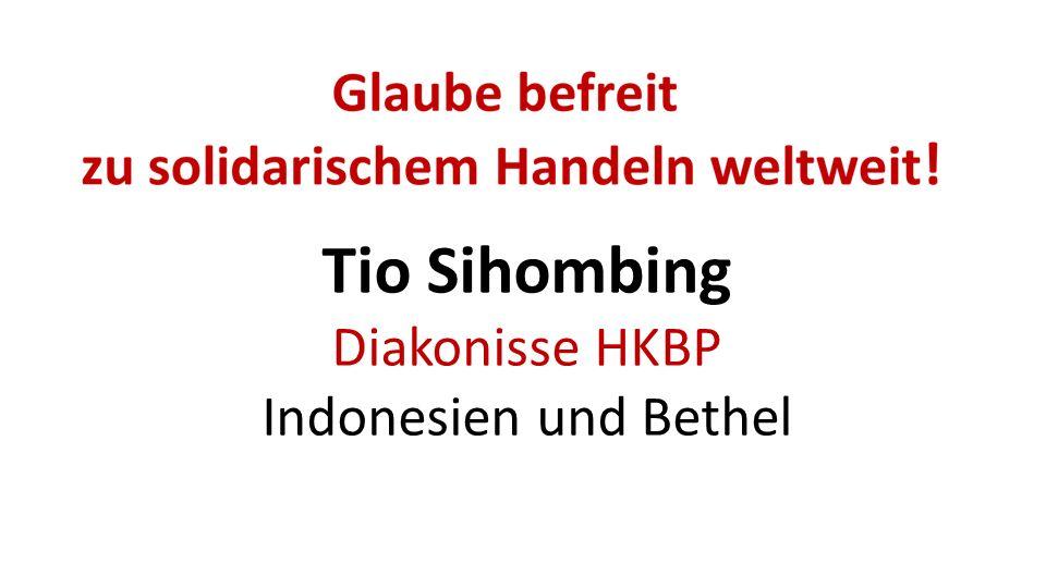 Tio Sihombing Diakonisse HKBP Indonesien und Bethel