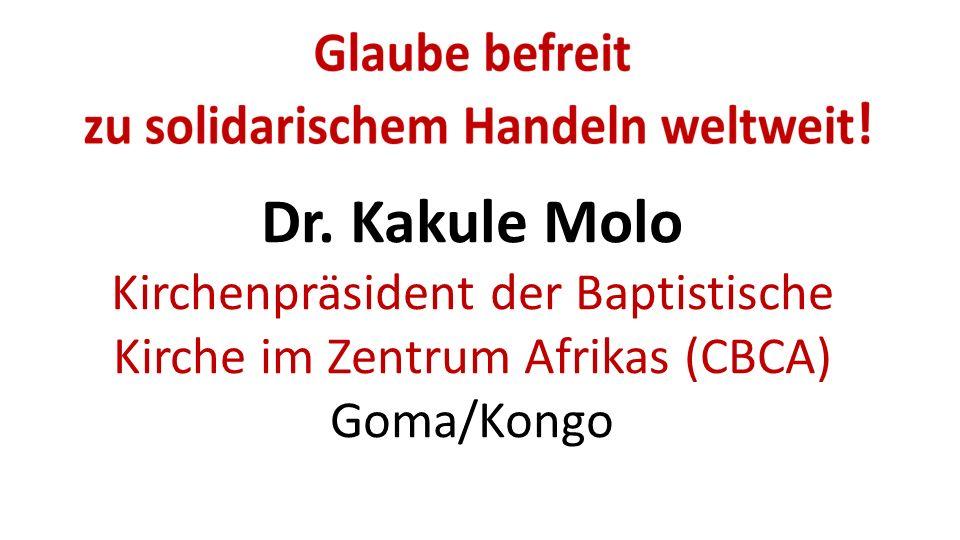 Dr. Kakule Molo Kirchenpräsident der Baptistische Kirche im Zentrum Afrikas (CBCA) Goma/Kongo