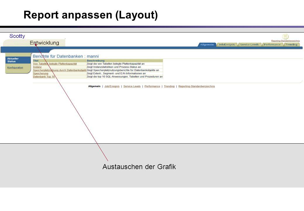 Report anpassen (Layout) Austauschen der Grafik