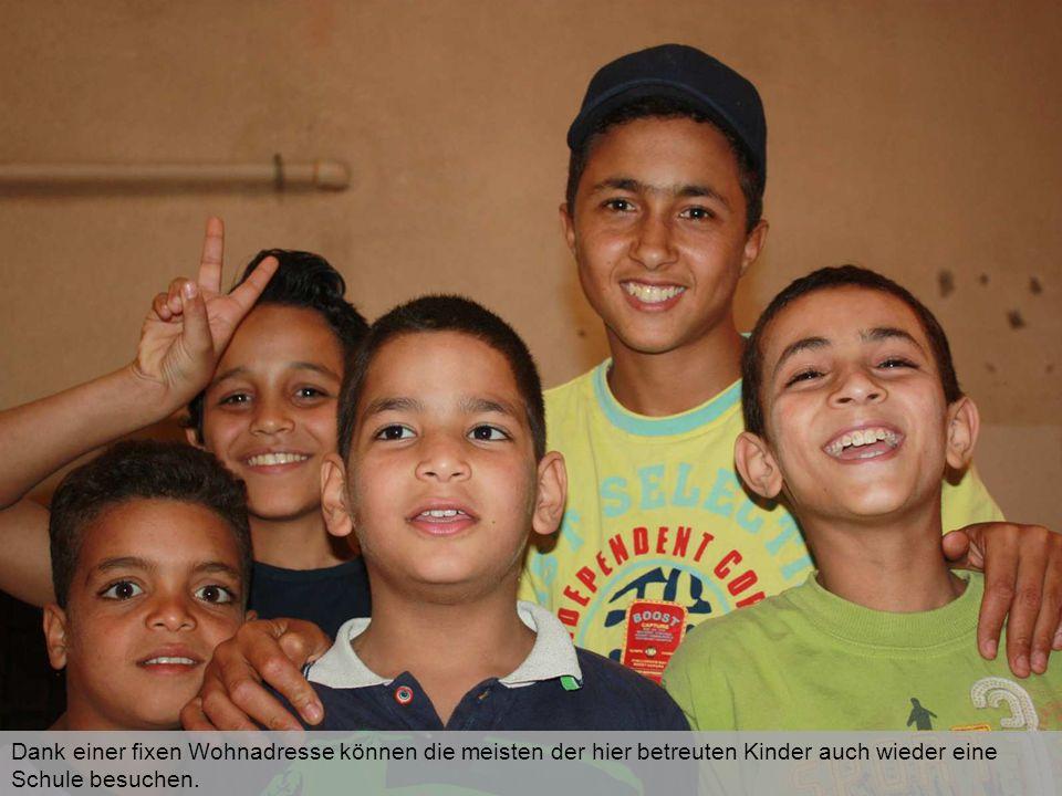 Dank einer fixen Wohnadresse können die meisten der hier betreuten Kinder auch wieder eine Schule besuchen.