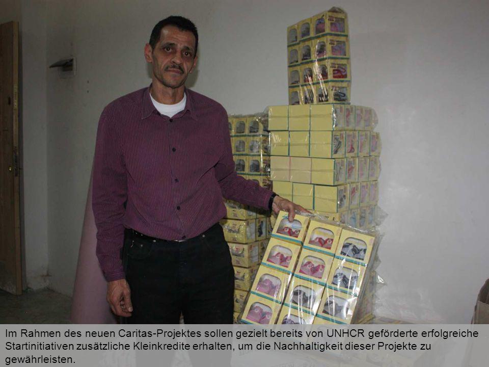 Im Rahmen des neuen Caritas-Projektes sollen gezielt bereits von UNHCR geförderte erfolgreiche Startinitiativen zusätzliche Kleinkredite erhalten, um