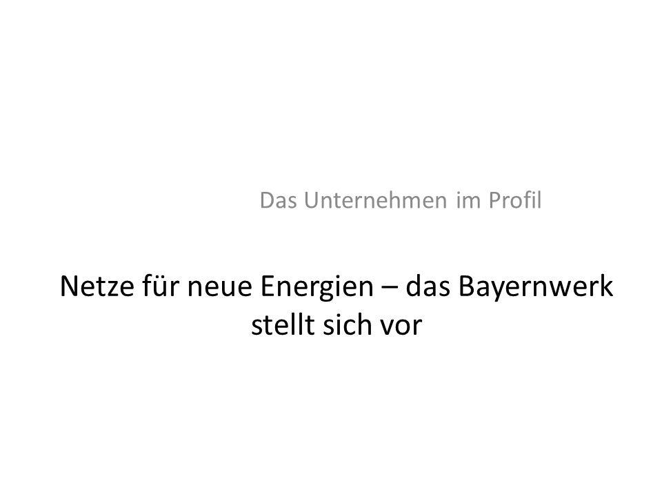 Netze für neue Energien – das Bayernwerk stellt sich vor Das Unternehmen im Profil