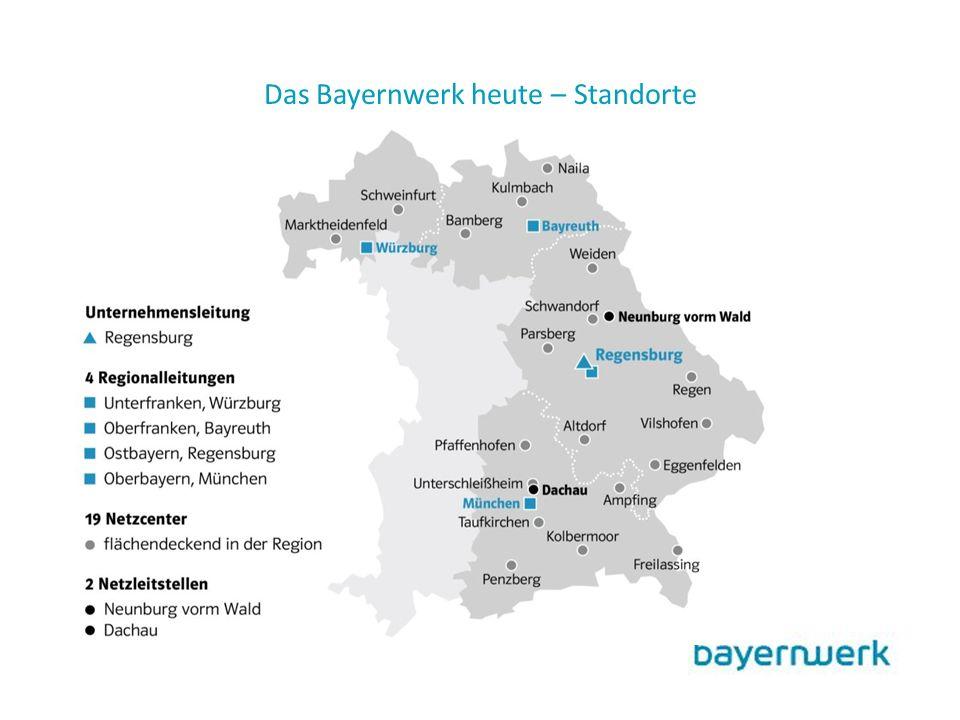 Das Bayernwerk heute – Standorte
