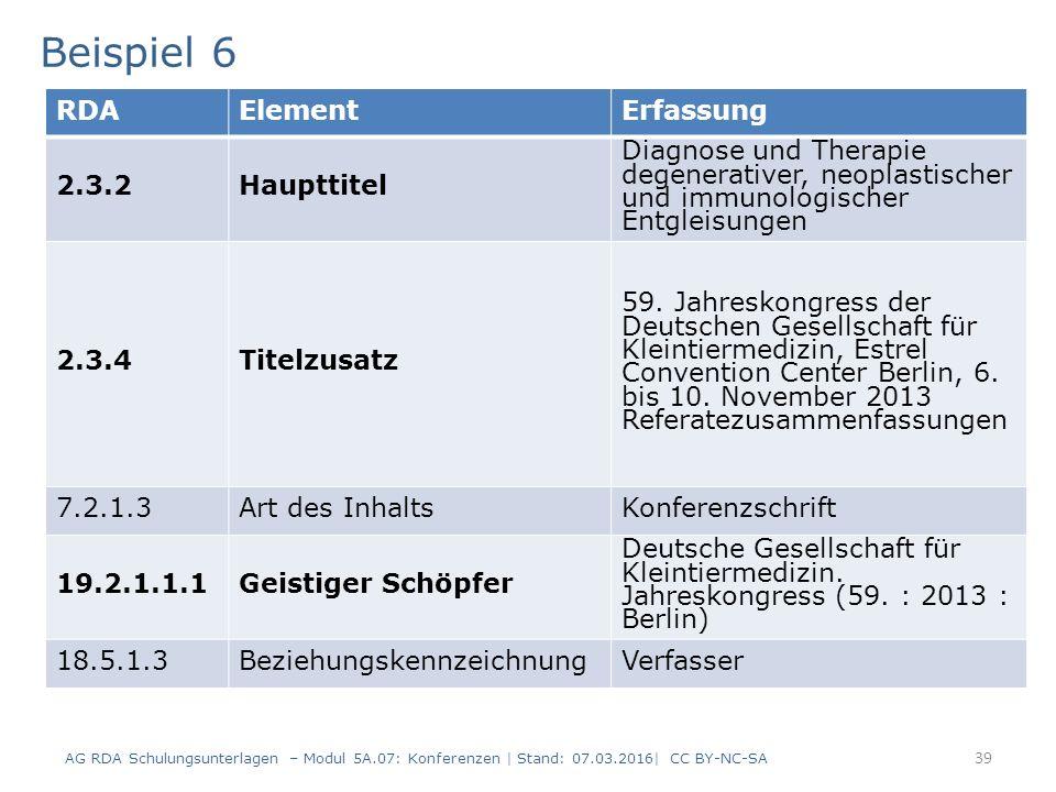 39 RDAElementErfassung 2.3.2Haupttitel Diagnose und Therapie degenerativer, neoplastischer und immunologischer Entgleisungen 2.3.4Titelzusatz 59. Jahr