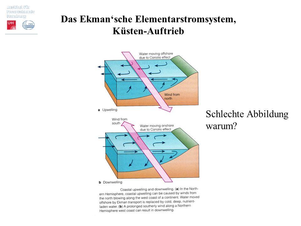 Das Ekman'sche Elementarstromsystem, Küsten-Auftrieb Schlechte Abbildung warum?