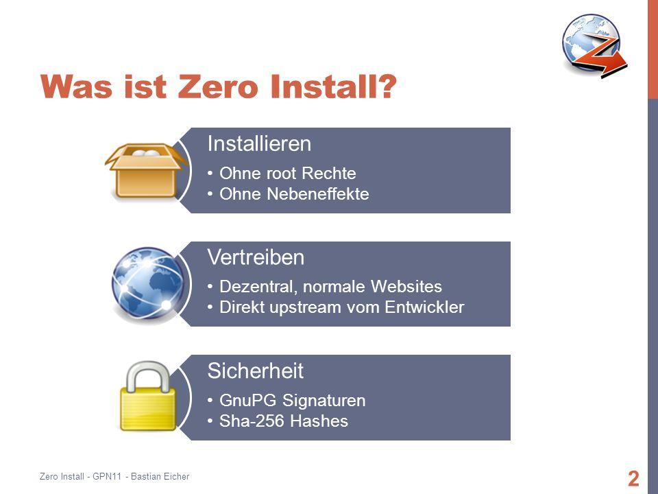 Was ist Zero Install.