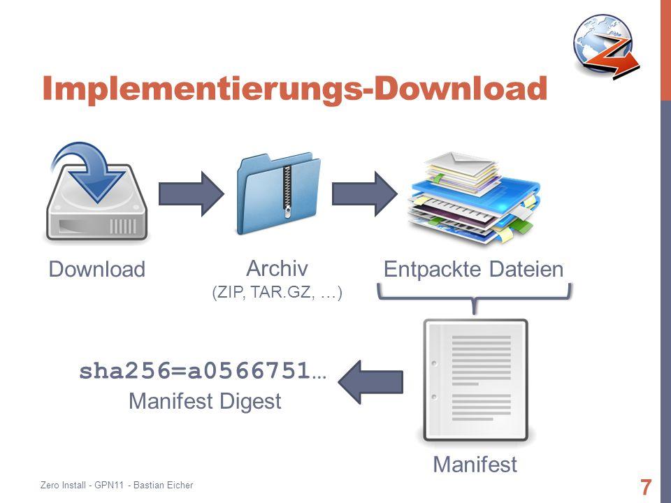 Live demo Endlich… Zero Install - GPN11 - Bastian Eicher 8