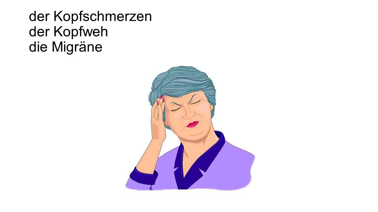 der Kopfschmerzen der Kopfweh die Migräne